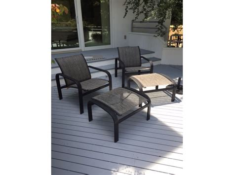 lot of brown patio furniture for sale in
