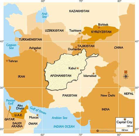 afghanistan regional map worldatlascom