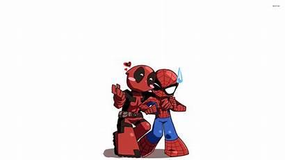 Deadpool Cartoon Spider Spiderman Desktop Wallpapers Background