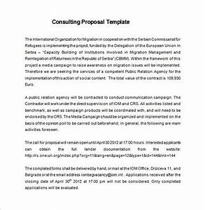 consulting proposal template 16 free sample example With consulting project plan template