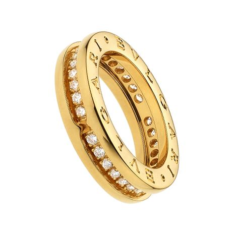 bulgari bzero1 bulgari b zero1 18k yellow gold 1 band ring with pave
