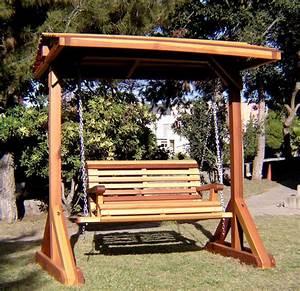 Wooden Garden Swing Bench Plans PDF Plans