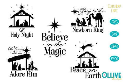 You can find the free svg here. Christmas Nativity SVG Bundle (678020)   Cut Files ...