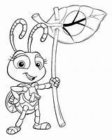 Bugs Coloring Bug Children Disney Printable Pixar Characters sketch template