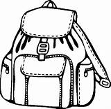 Backpack Coloring Pages Models Template Paper Print Tocolor Button Through sketch template