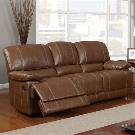 tan leather reclining sofa rodeo reclining sofa in brown leather dcg stores