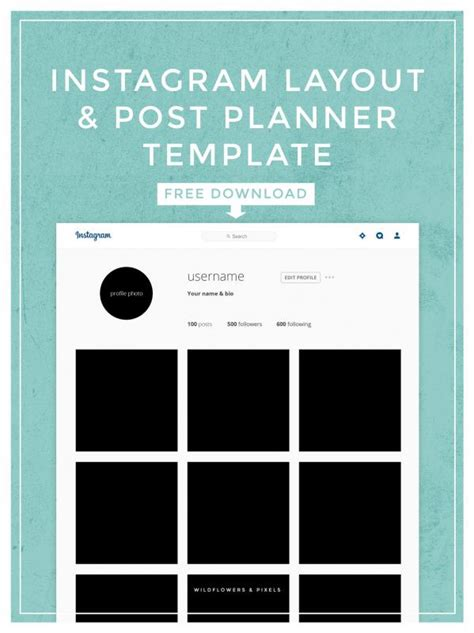 instagram layout instagram post template template business