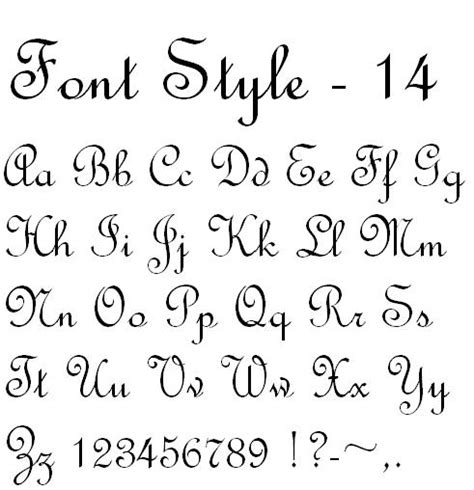 different lettering styles fonts lettering style script 9 calligraphy style fonts images calligraphy 64340