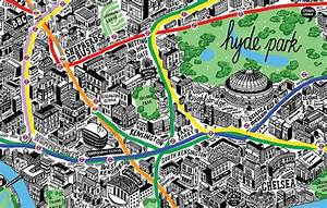 london hand drawn map by jenni sparks