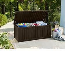 keter rockwood 150 gallon outdoor plastic storage box brown sam s club