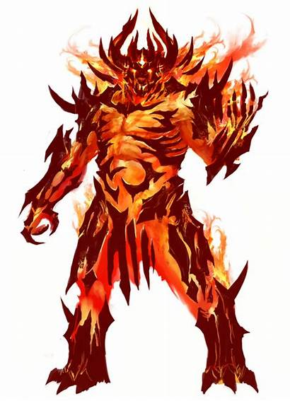 Fire Elemental Wars Guild Demon Concept Dnd