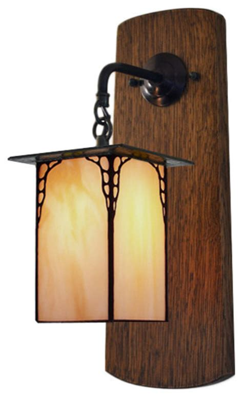 craftsman mission style wall sconce hallway entryway