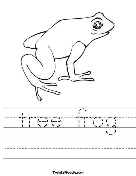 tree frog worksheet  twistynoodlecom  images