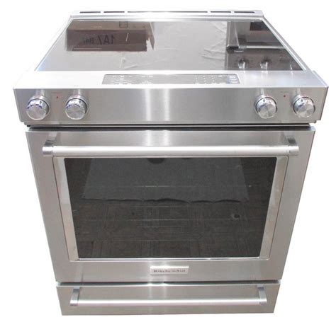 kitchenaid kseb900ess 30 quot stainless steel electric slide in convection range ebay