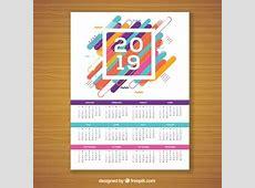 Calendario 2019 Foto e vettori gratis