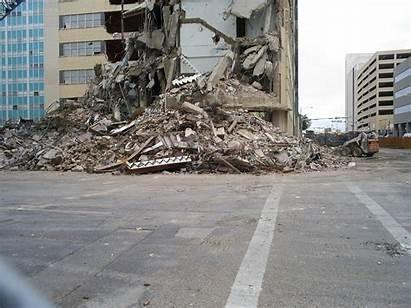 Demolition Building Debris Demolished Permian Tower Midland