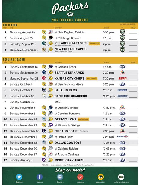 wearing   green  gold  schedule released