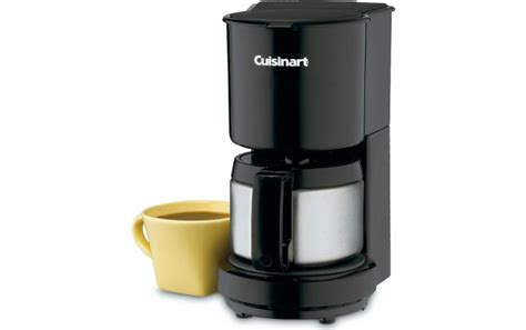 The automatic shutoff and the brew pause technology puts this coffeemaker above its contemporaries. Cuisinart 4-Cup Coffee Maker with Stainless Steel Carafe - DCC-450BKC
