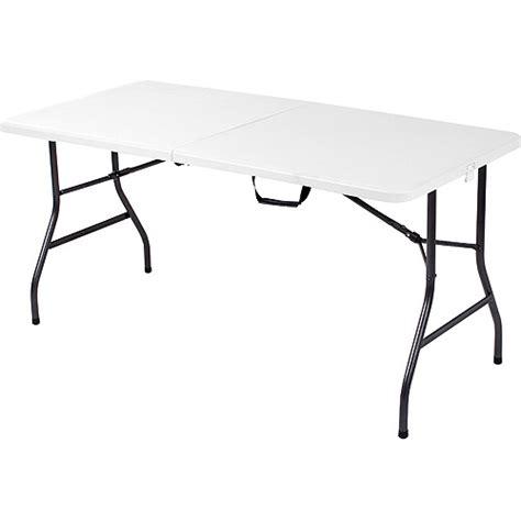 5ft folding table target mainstays 5 foot long center fold table white walmart com
