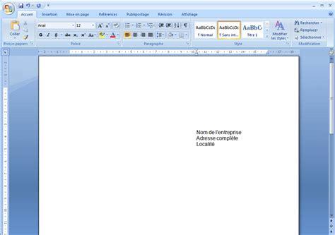 Pour Word modele lettre word pour enveloppe fenetre modele lettre de