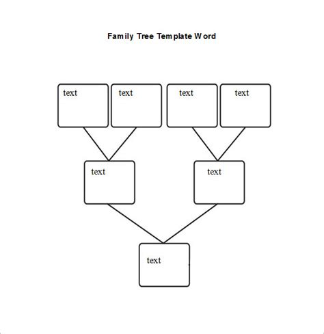 Family Tree Diagram Template Microsoft Word by Word Family Tree Templates Free Premium Templates