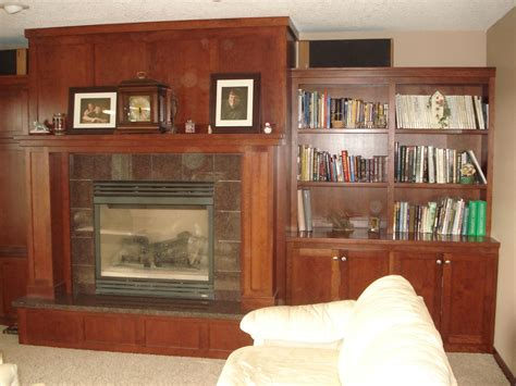 Fireplace With Bookcase Surround by Handmade Mantle Fireplace Surround Bookcase By T Richard