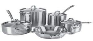 viking  ply  ss  piece cookware set silver reviews kitchen  focus