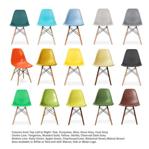 chaises colorées eames style dsw wood base chair 20 colours available by
