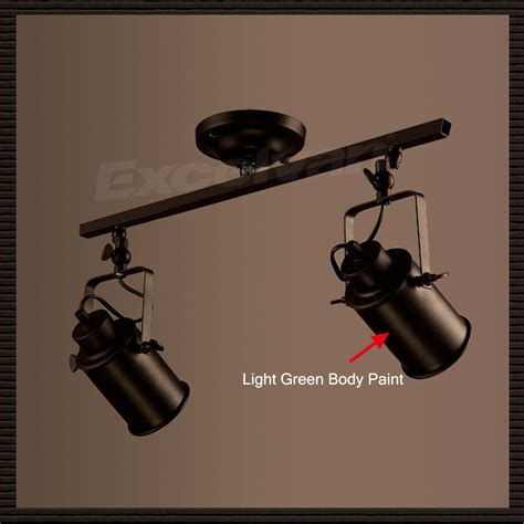 2 light adjustable rail track lighting spot light kit wall
