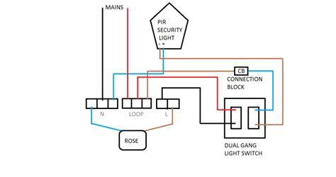 how do i wire a switch to a pir light diynot forums