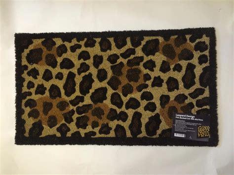 Leopard Doormat by Large Zebra Leopard Paw Animal Print Entrance In Out Door