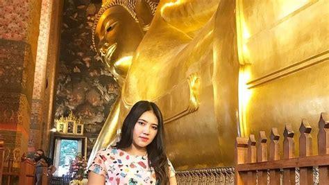 jalan jalan  bangkok  vallen lihat patung buddha tidur
