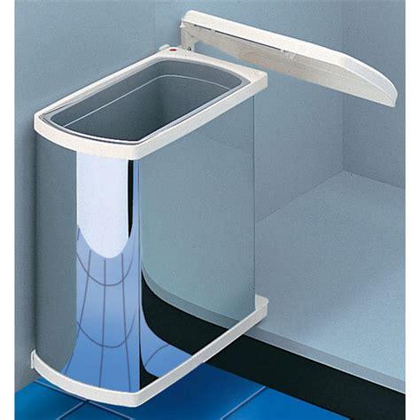 under cabinet trash bins hafele swing out waste bin for vanity or kitchen cabinet
