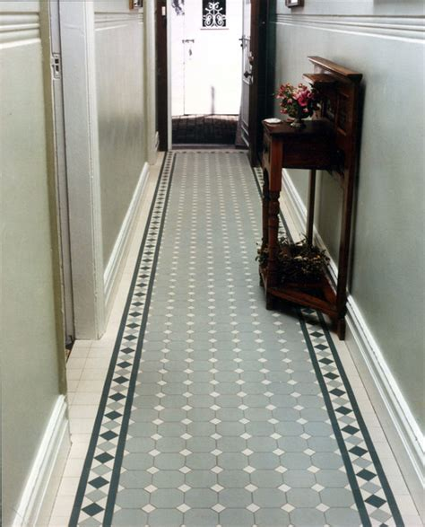 semi flush mount lighting edwardian quot 39 norwood quot tile hallway by winckelmans