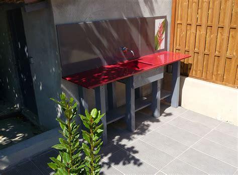 cuisine et comptoir pool house outdoor kitchen bar counter corner barbecue