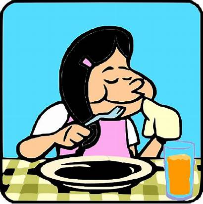 Clipart Eating Woman Clip Table Plate Fork