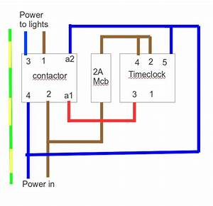 Single Wiring With Diagram Timer Phase Contactor