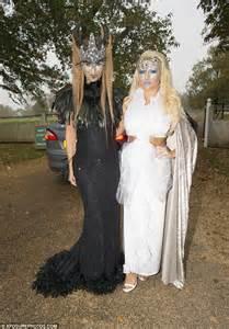 jewelled headdress towie ferne mccann and billie faiers undergo ghoulish