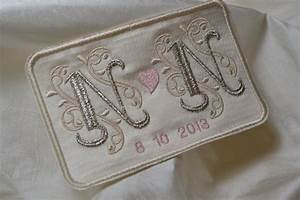 custom embroidered wedding dress label french silk satin and With embroidered tags labels