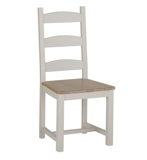 country oak and painted ladder back dining chair oak