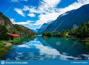 Lovatnet, Lake, Beautiful, Nature, Norway, Stock, Photo
