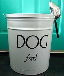 Pet food storage tin for Dog food storage tin