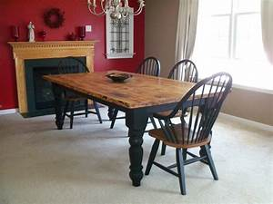 Rustic Table Using Knotty Pine Legs & Skirting Set