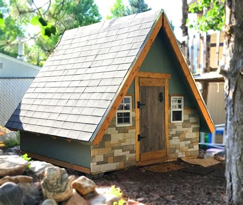 build  wooden playhouse kits loccie  homes gardens ideas