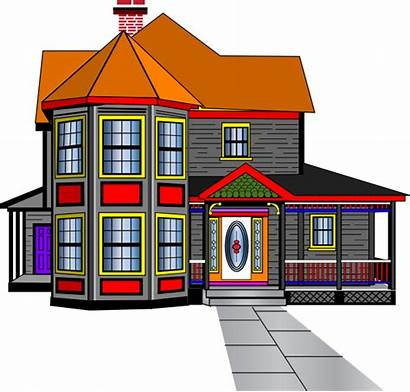 Clipart Mansion Clip Houses Row Townhouse Cliparts
