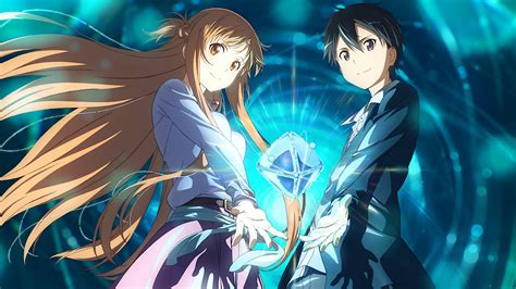 wallpaper anime anime couple sword art