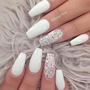 fancy white coffin nails designs  stylish zoo