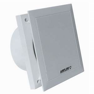 Airflow qt120 quiet air 5 inch bathroom extractor fan for Do you need an extractor fan in a bathroom