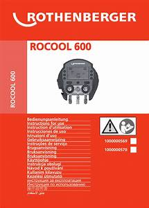 Rothenberger Rocool 600 User Manual