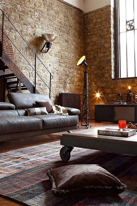 exposed brick spaces home house interior decorating design dwell furniture decor fashion